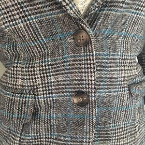 Jackets & Coats - Plaid elbow patch blazer